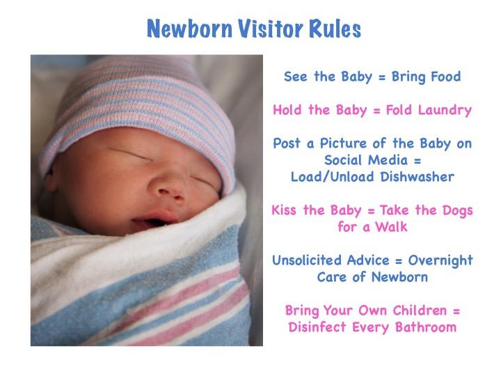 Newborn Visitor Rules